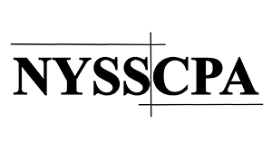 Logo - NYSSCPA text in black, partially boxed in with black lines
